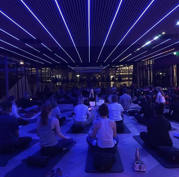 People's Place Gym - monthly sound meditations for Calvin Klein & Tommy employees at PVH HQ