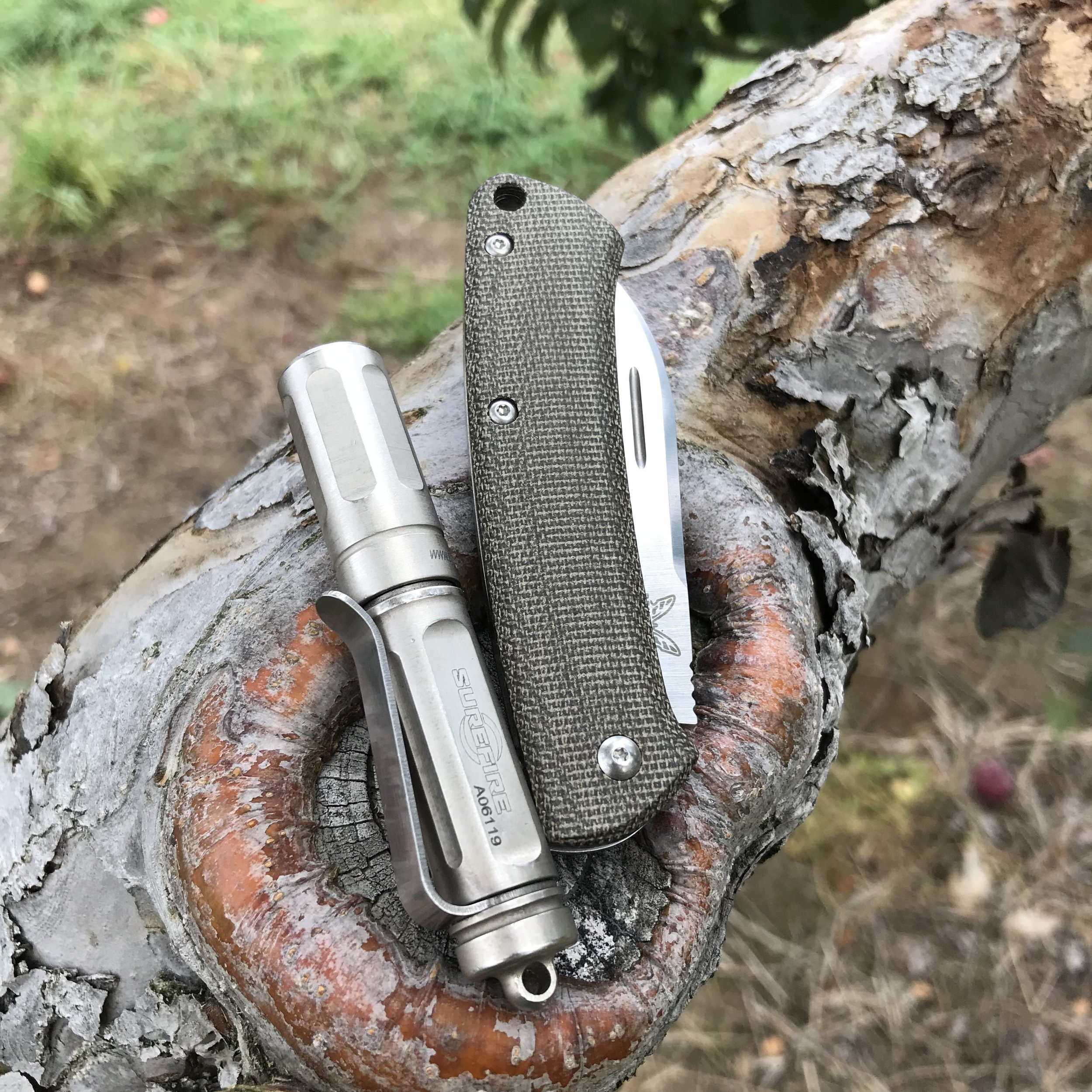 The Surefire Titan Plus with the Benchmade Proper