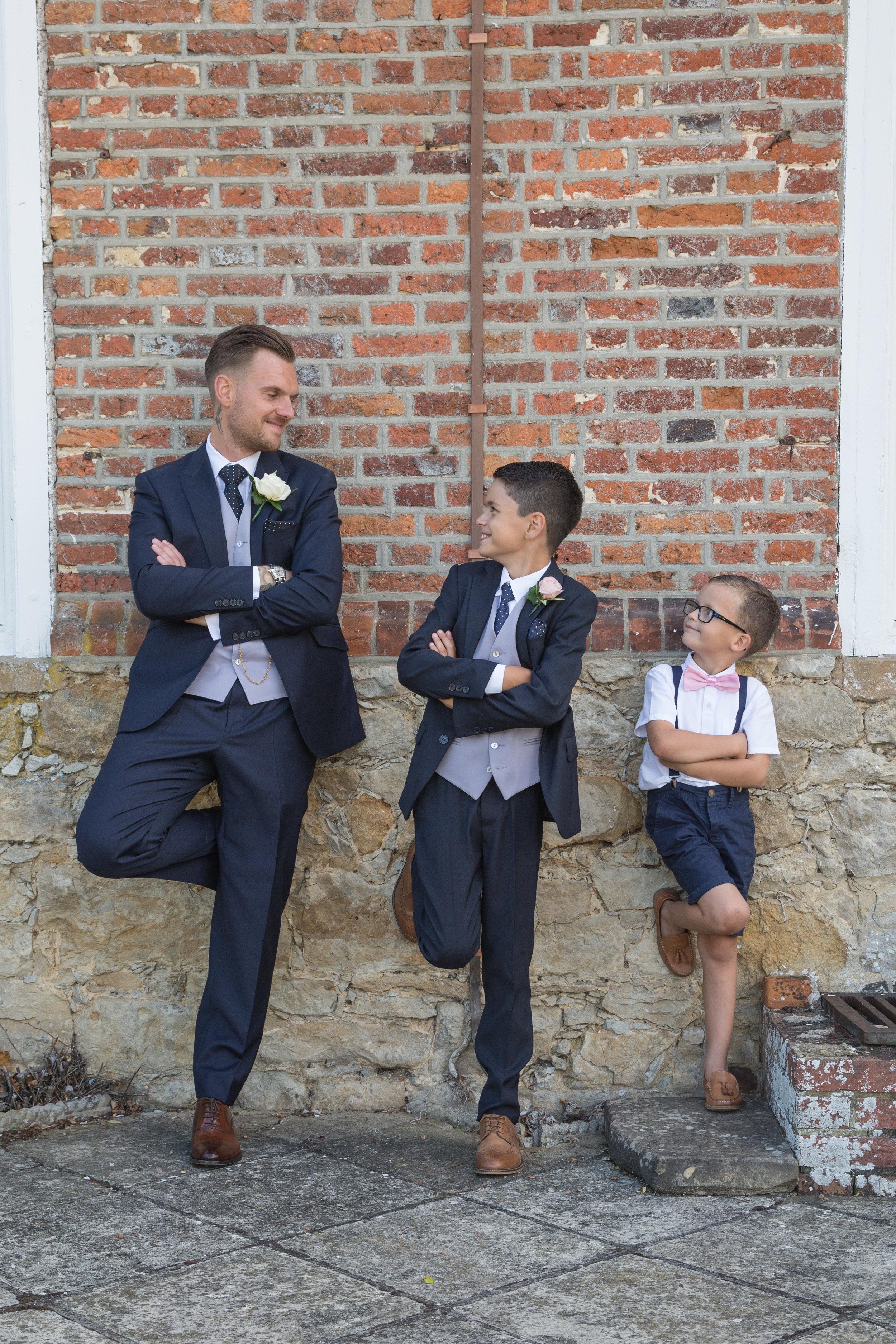 wedding groom pageboys