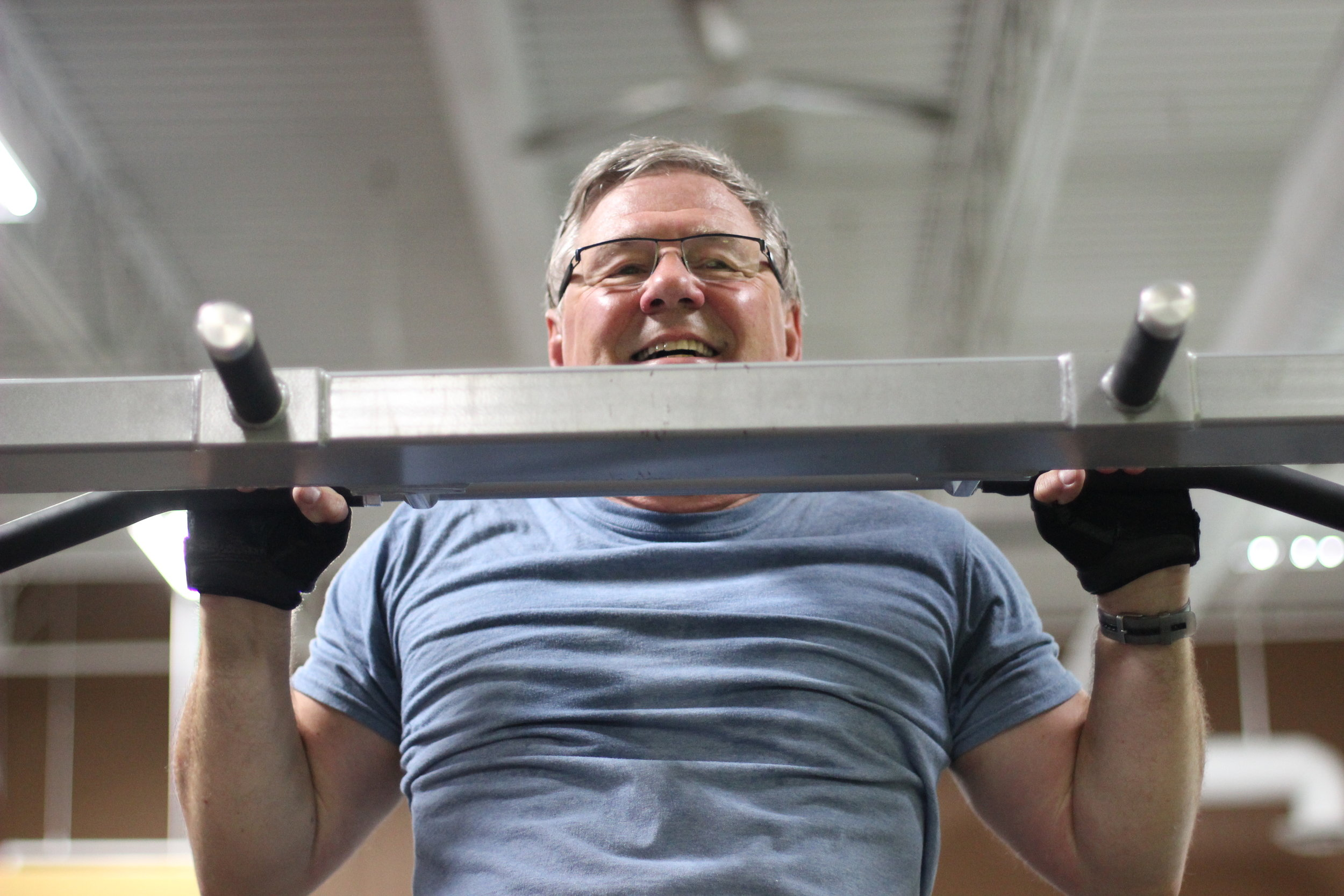 "Don can crank out some pull-ups! He's showing us what ""going strong"" looks like as a retiree!"