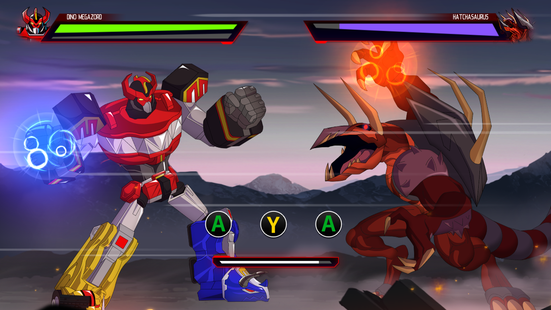 Megazord battles end in anticlimactic quick time events.