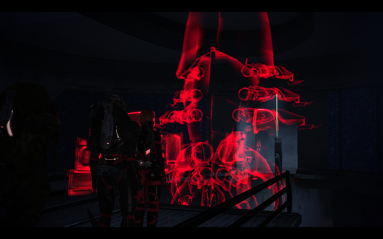 Speaking to sentient extinction machines is just a normal day for Shepard.