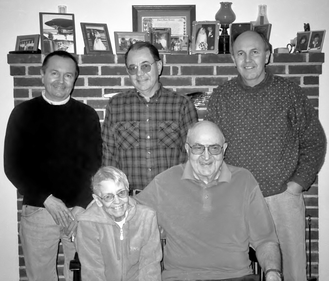 The Blake Family back row - Gary, Joe, Neil, front - the late Virgina and Fred Blake  photo courtesy of the Boothbay Register