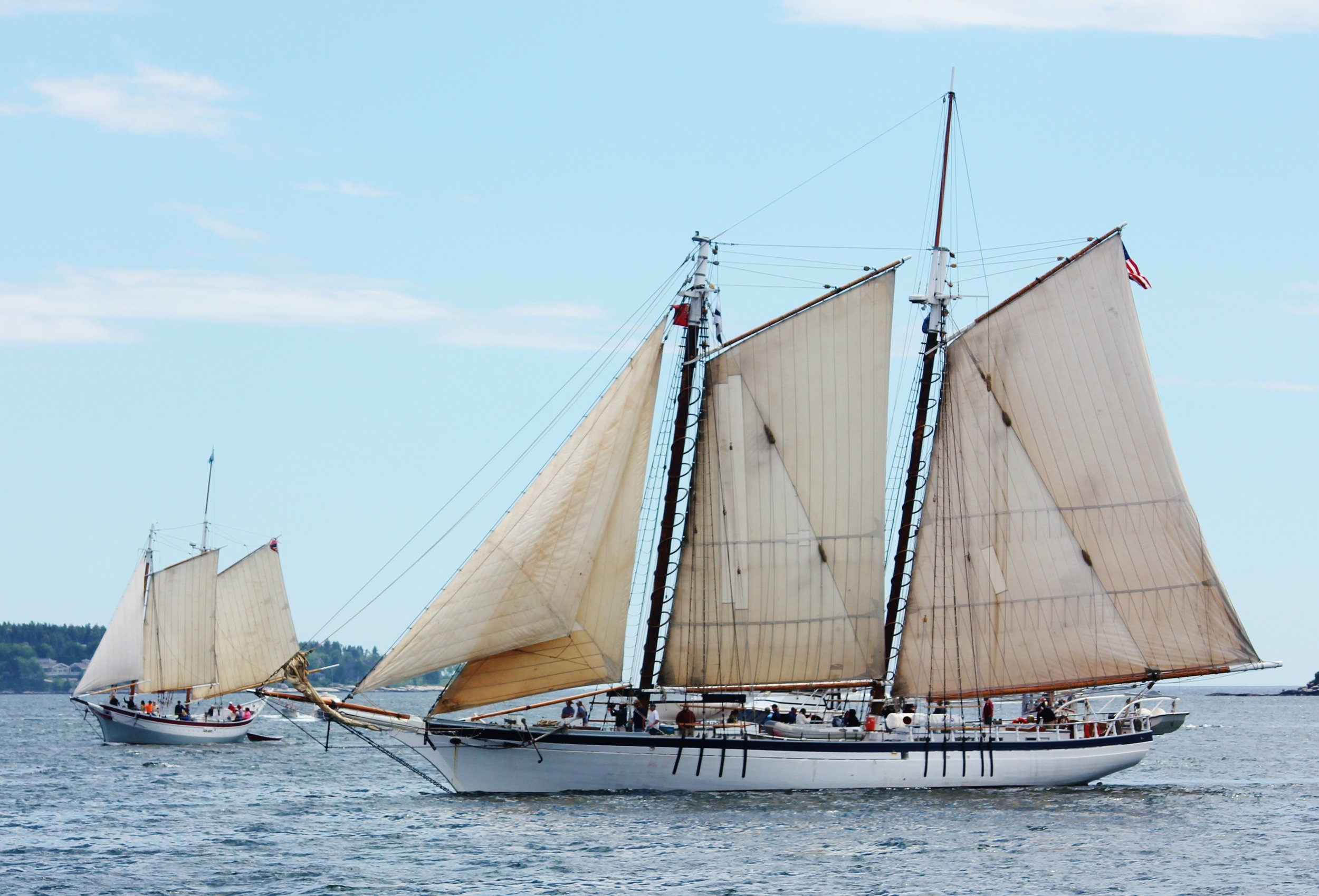 Schooners Ardelle and the Harvey Gamage