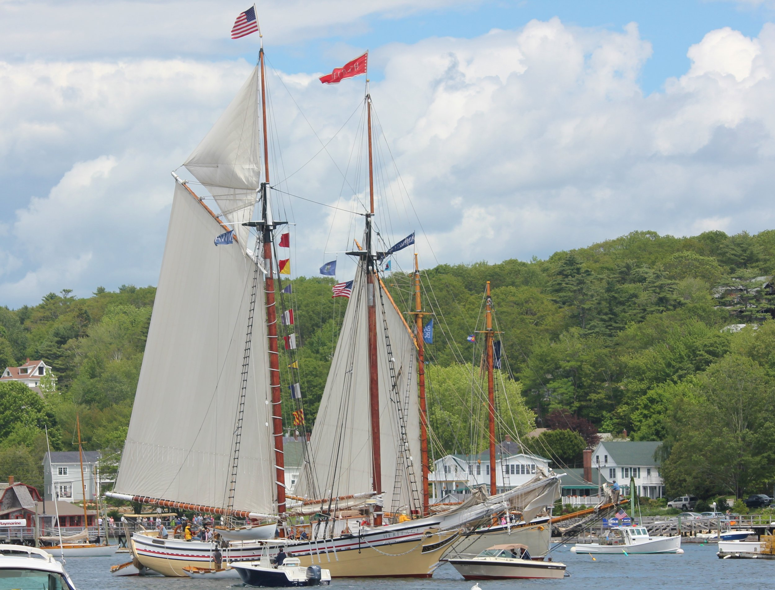 Schooners Heritage and American Eagle