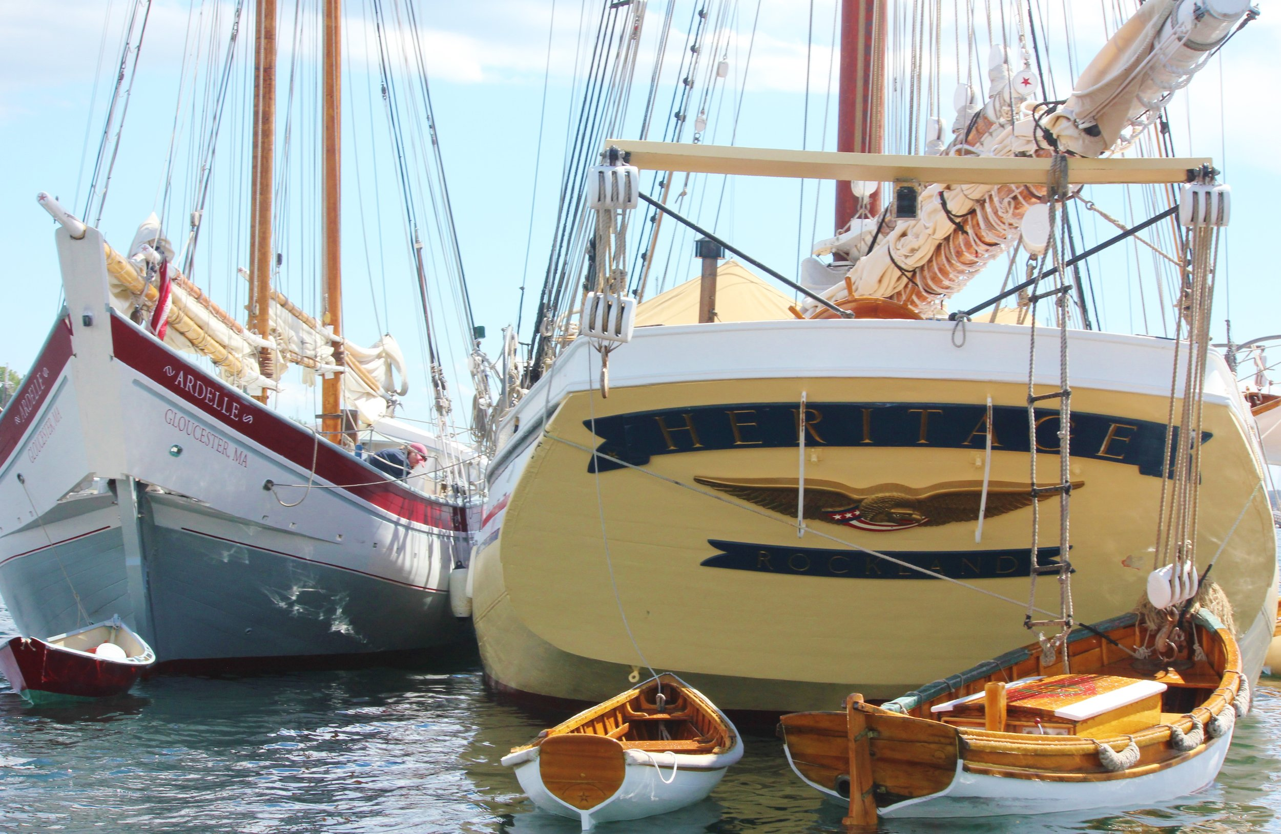 Schooners Ardelle and Heritage at Rest