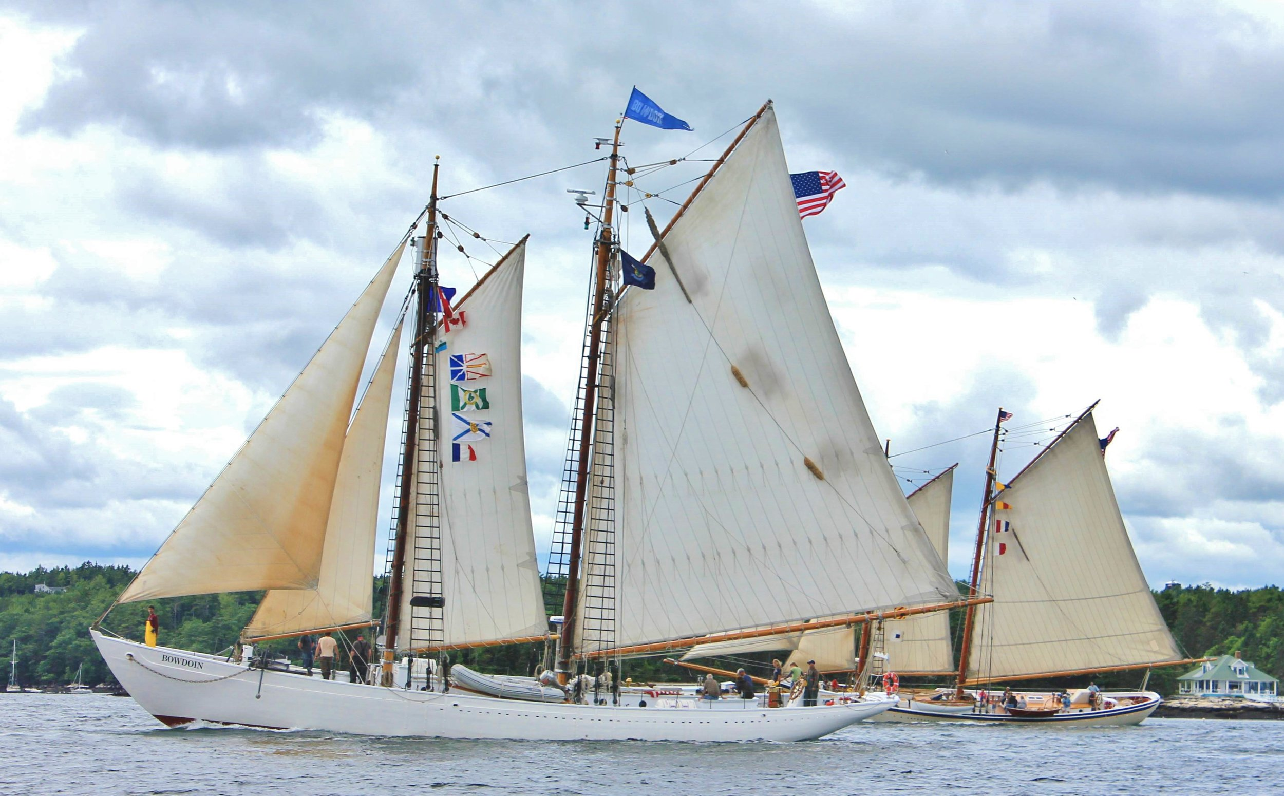 Schooners Bowdoin and Heritage