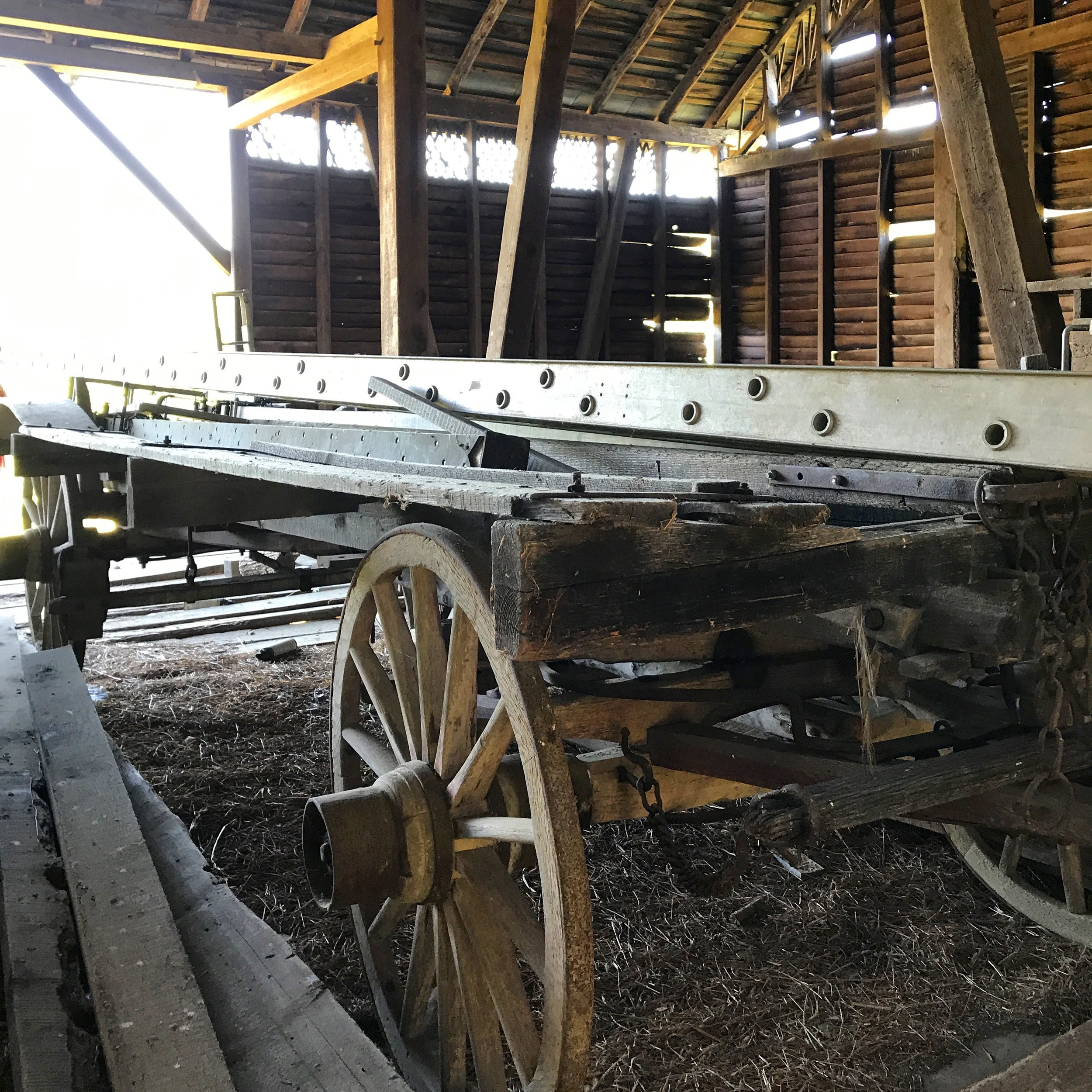 A wealth of history  is hidden in the barns of Shenandoah County. Here, the equipment of yesterday and today in storage.