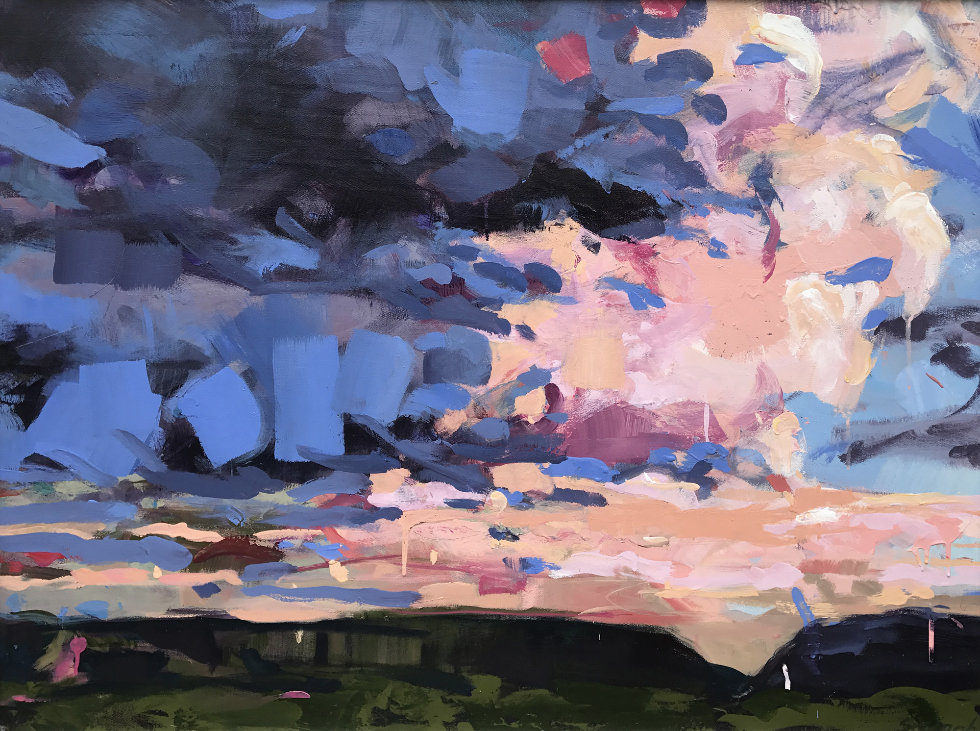 "Cloud Five by Sally Veach, Acrylic on Canvas, 30"" X 40"""