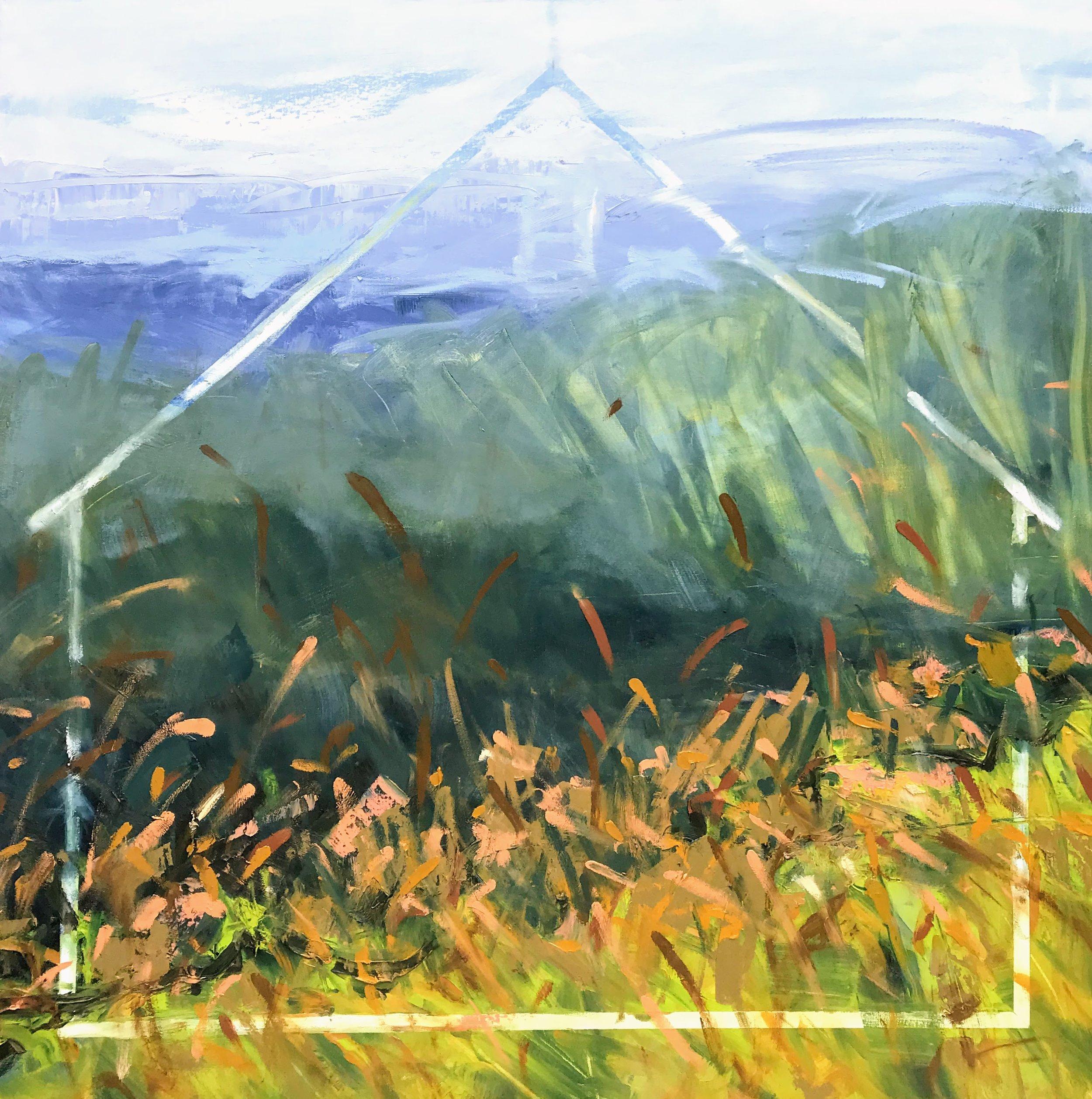"Resurrection 4   by Sally Veach, Oil on Canvas, 36"" X 36"""