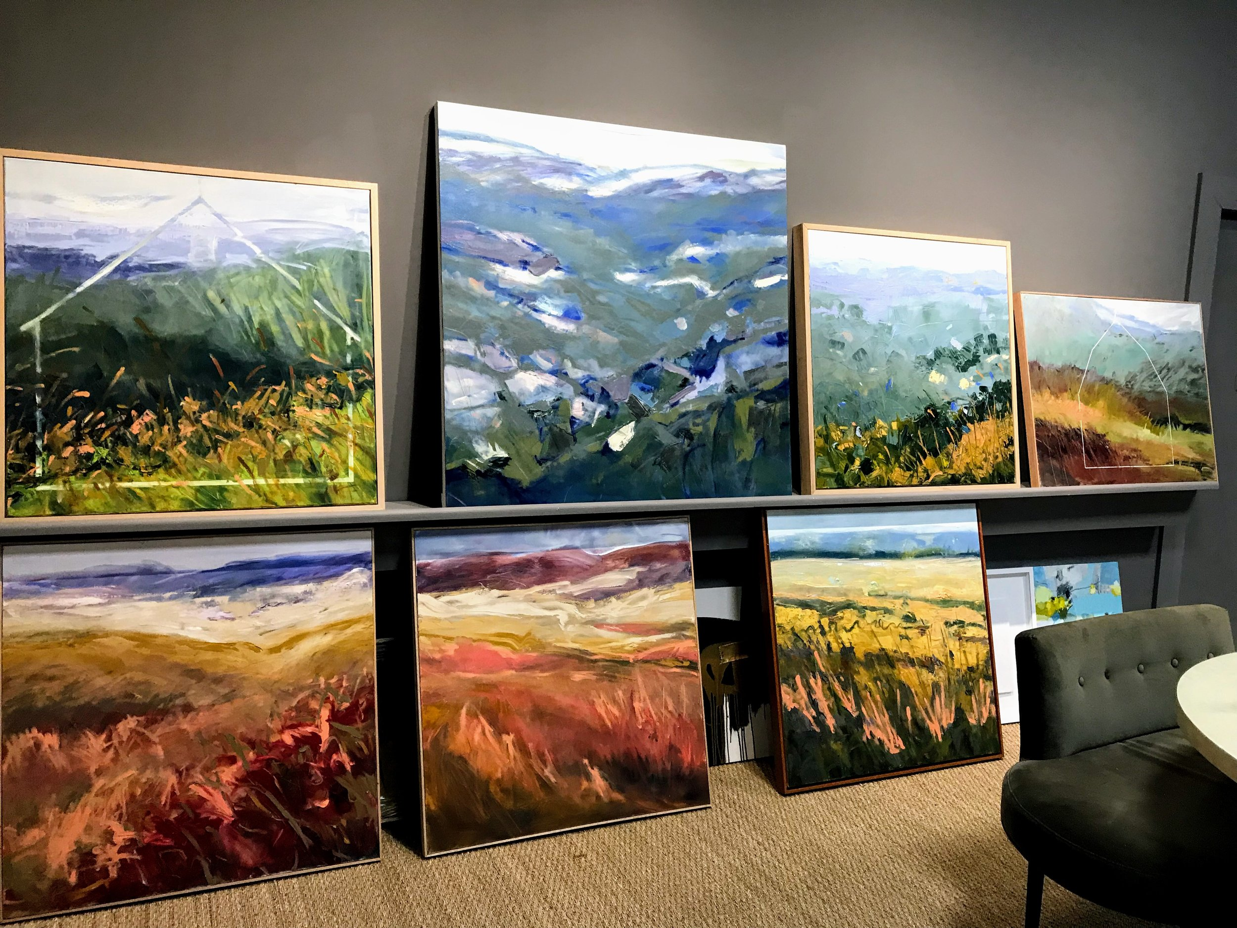 A selection of my paintings at Ann Neilson Fine Art in Charlotte, NC.