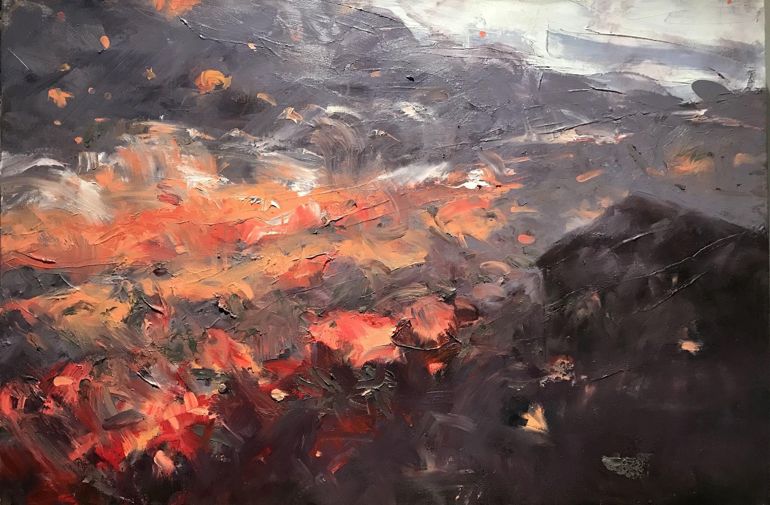 "Sheridan's Burn  , Oil on Canvas, 30"" x 40"""