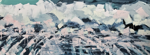 "Winter is Coming, Acrylic on Canvas, 30"" X 80"", $4300"