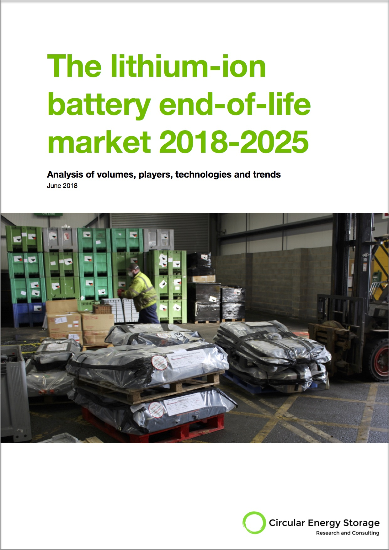 The world's most comprehensive report about the lithium-ion battery end-of-life industry - 127 pages46 charts and tableslists and mentions of over 100 COMPANIES158 REFERENCES AND LISTS OF 155 research PAPERS AND OVER 250 PATENTS