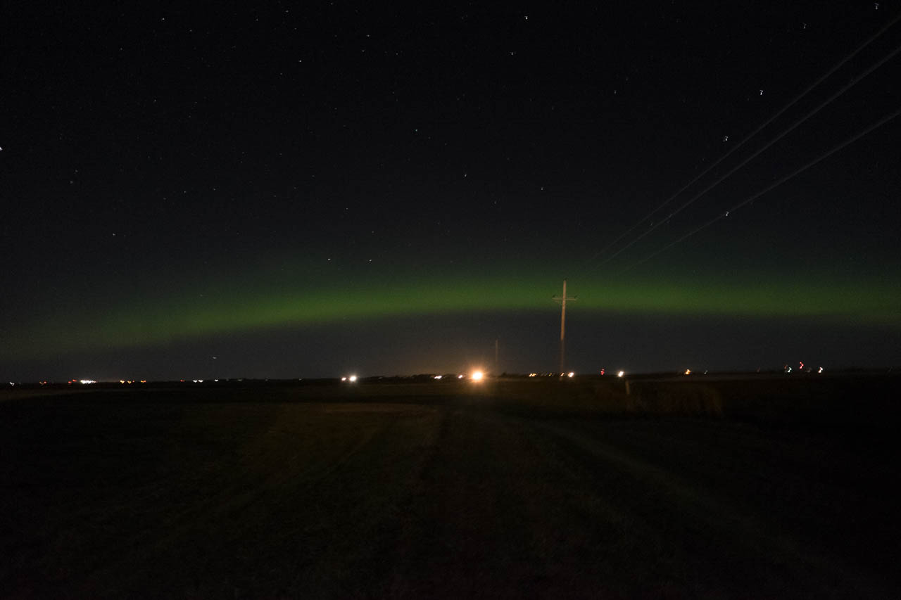 Halfway through the night we get a show from the Aurora Boreali