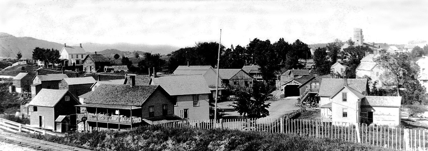 The town of Whallonsburg about 1895