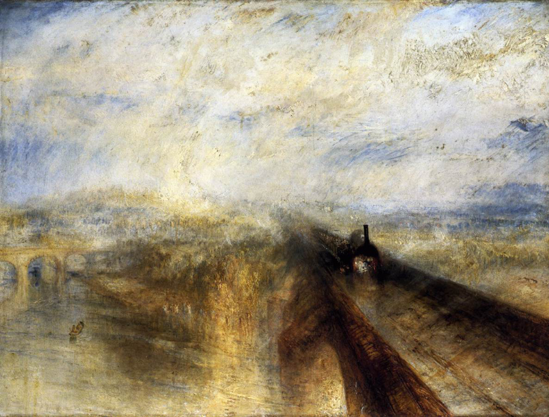 Rain, Steam, Speed and the Great Western Railway , painting by JMW Turner