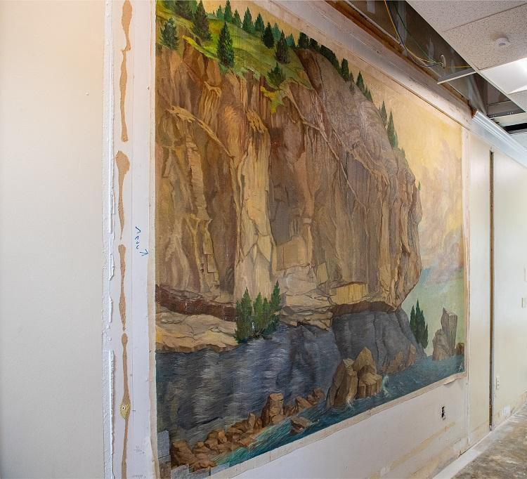Lone Rock Point Mural at the University of Vermont