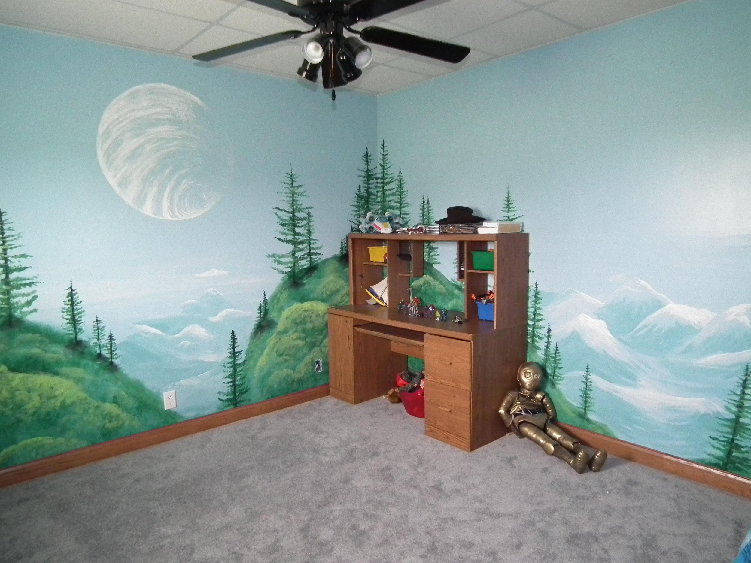 star wars mural endor.JPG
