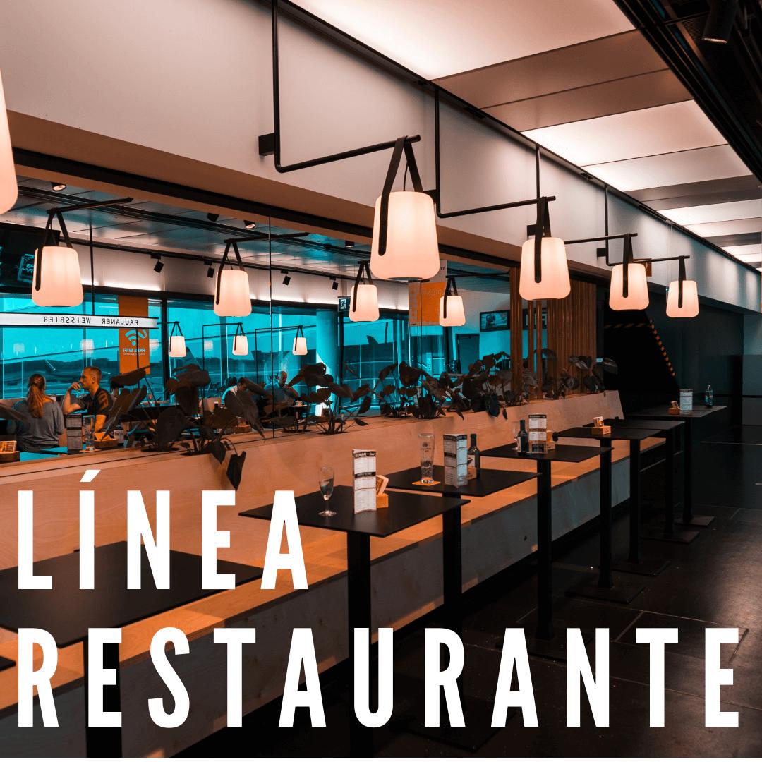 Línea Restaurante:  Nuestra línea de las sillas y mesas para los restaurantes