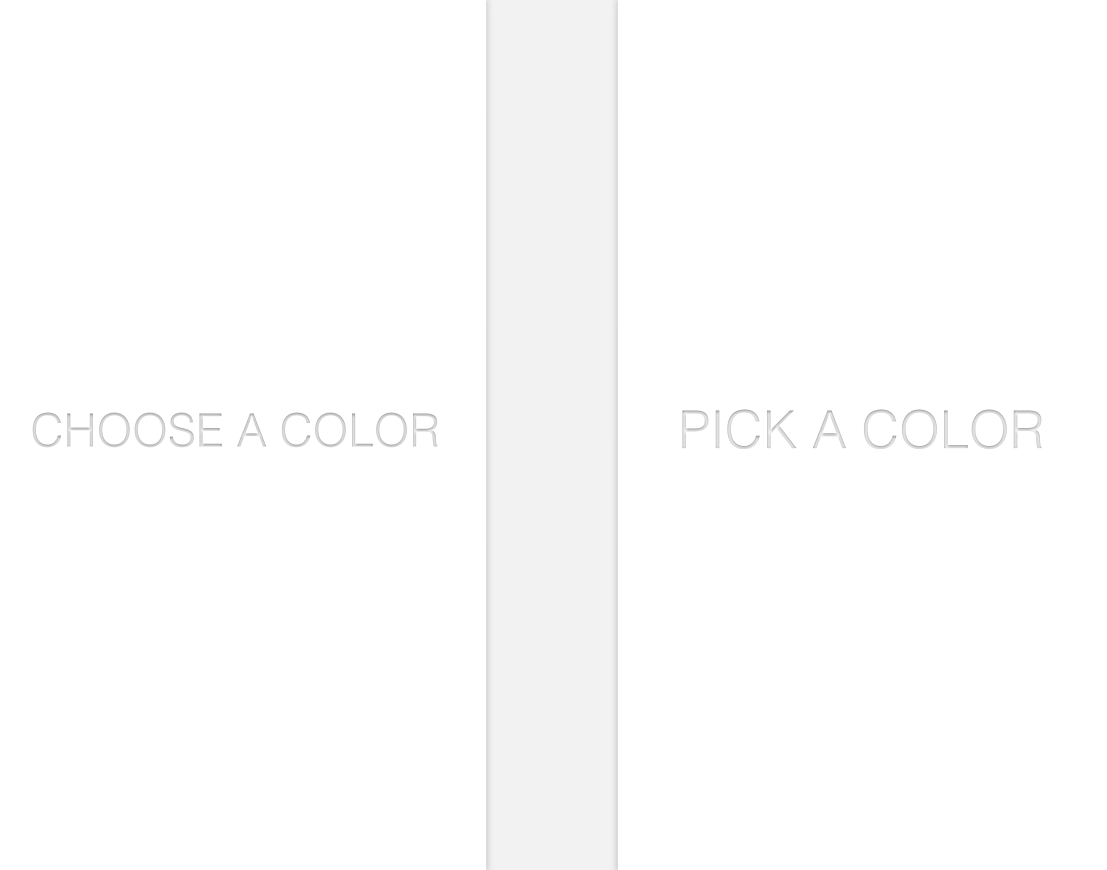 This is the second introduction screen to explain the rule of the app: Pick a Color. This is implemented to give users a brief idea of the app use and style.