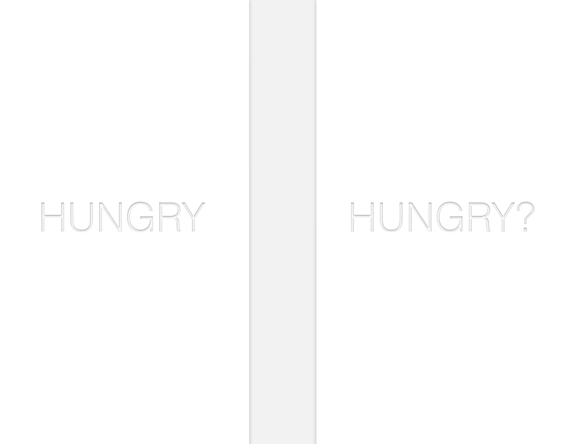 This is the first introduction screen to explain the idea of the app: to find a place to eat.