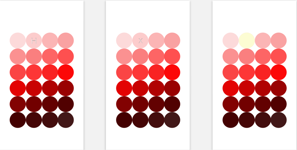 Once the user picks a color, they are prompted to pick a particular shade in light or dark. This is to further help specify a mood. This is the example for red.