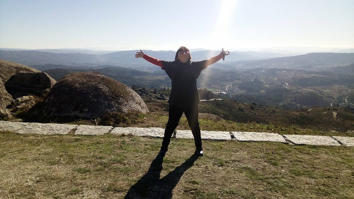 At the top of the moutain…