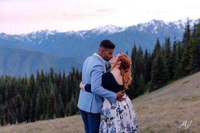 """Christine & Shan from New York chose the Olympic Peninsula to celebrate their love this past July💕 These two eloped at Hurricane Ridge ⛰ here's what the newlyweds had to say about their special day with Autumn Pappas, Officiant, Happy Heart Ceremonies: """"Autumn is incredible! She was the first person we contacted when we were planning our elopement and boy were we happy we did! She listened to what we wanted, put us in touch with other amazing vendors, and gave a ceremony that was perfectly designed for us (even though she didn't know us and had only talked to us for less than an hour!). I can't say enough good things. We had the perfect day and it was in part because of Autumn's natural ability, care for clients, and obvious passion for her craft."""" // 📸 @meljentzsch #weddingsacrossthesound #happyheartceremonies #elopment #weddingofficiant #pnwwedding"""