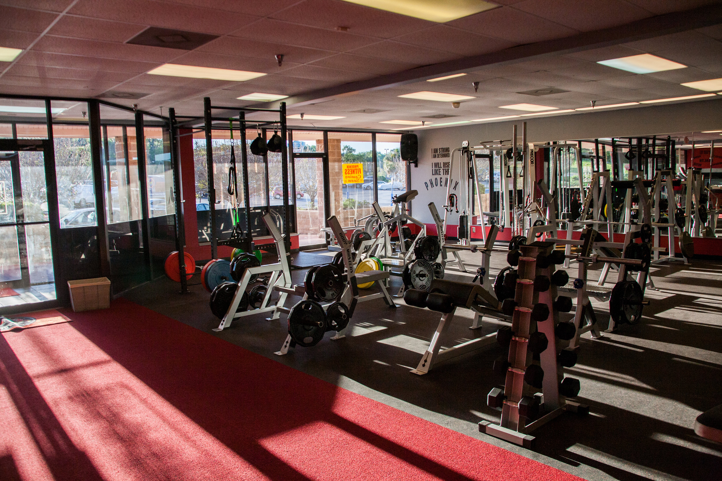 A CLEAN, WELL LIT FACILITY FILLED WITH   high quality equipment    check it out