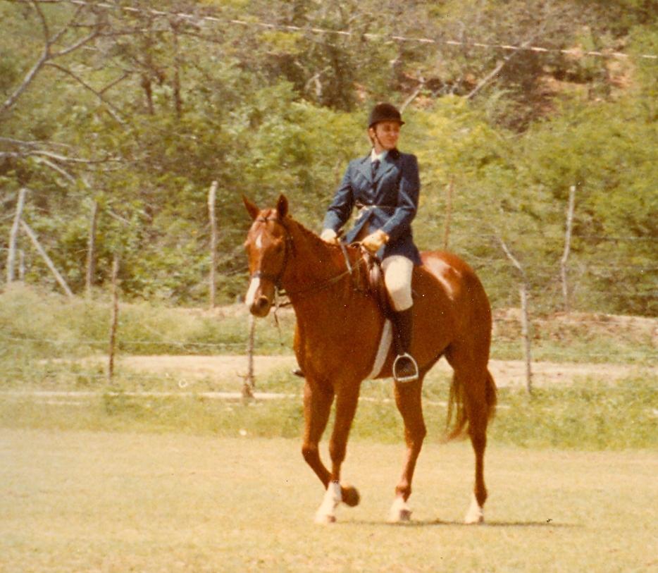 Ann with Secretariat's Son