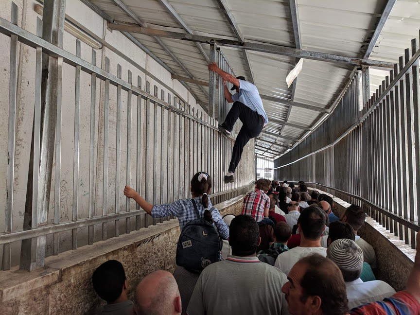 A Palestinian checkpoint. Photo by Andy Larsen