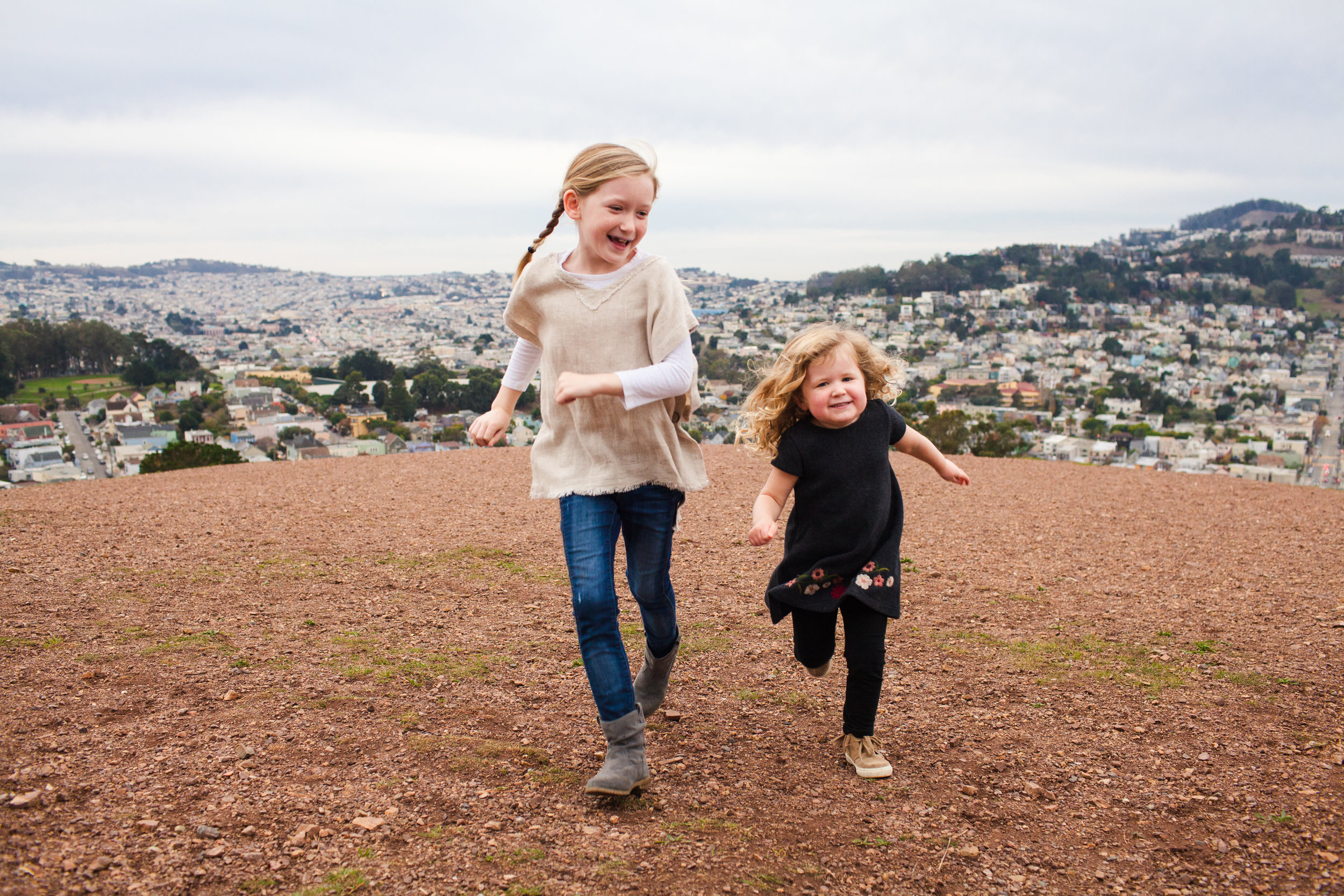 family photo session at the top of bernal hill