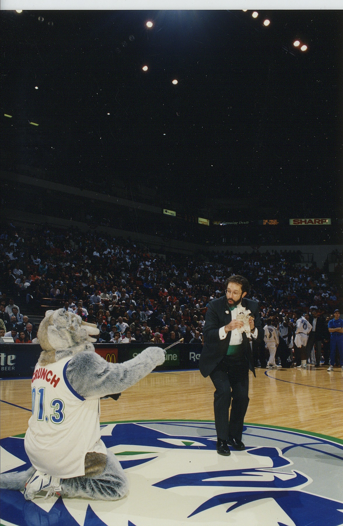 Hondo sports stage Twolves Crunch center court.jpg