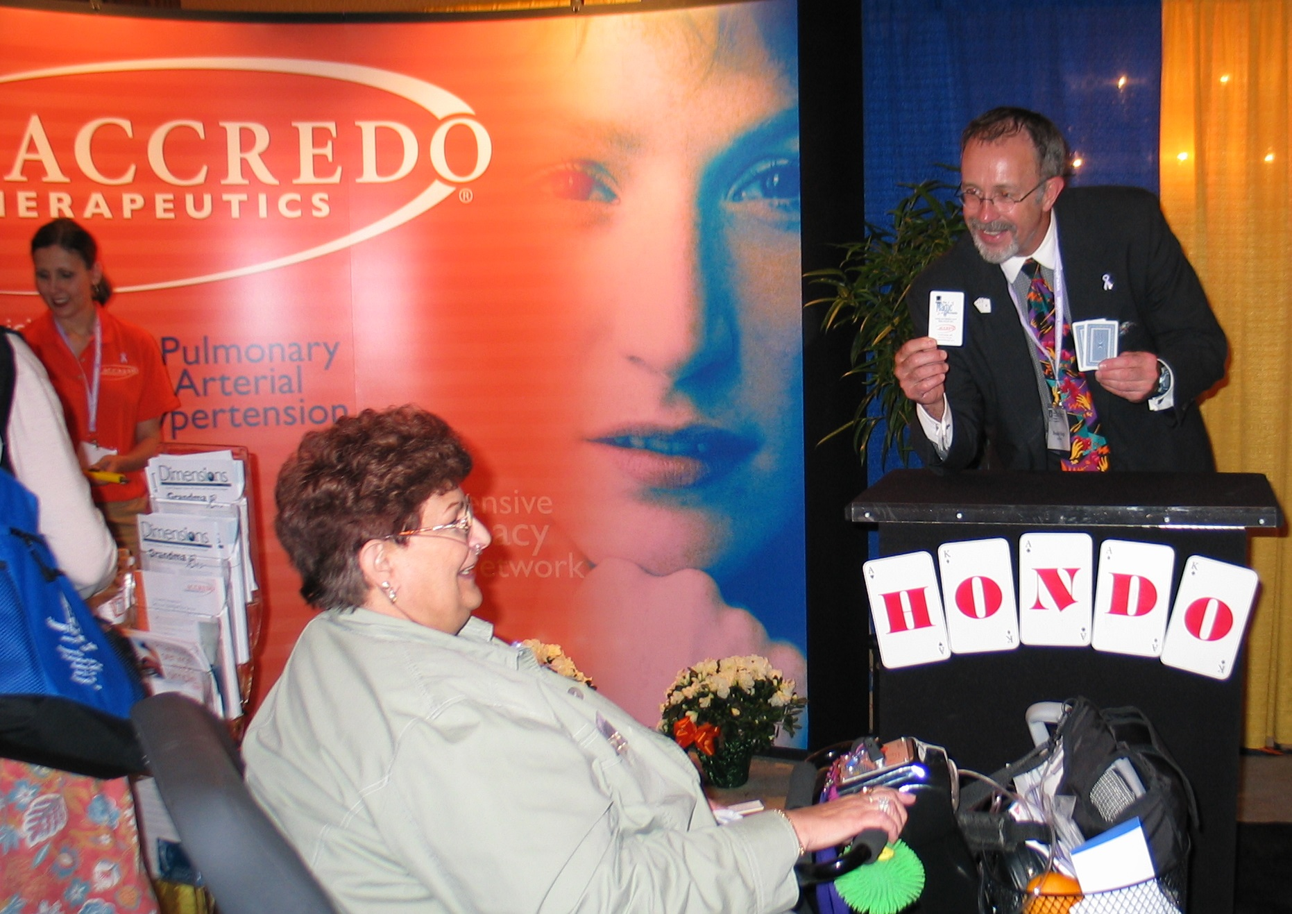 Accredo Therapeutics engages Hondo for numerous Arterial Pulmonary Hypertension shows. Seeing smiles on faces is magical for both Hondo and sponsor.