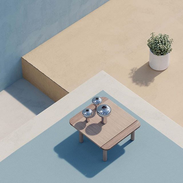 Playing with methodologies of product rendering.  #kettal #riva #coronarender #3dmax #differentpictures #pastel #mediterranean #rendering #cgi #london #fun #yay #composition #photography #archviz #architecturalvisualization #product #table #plant