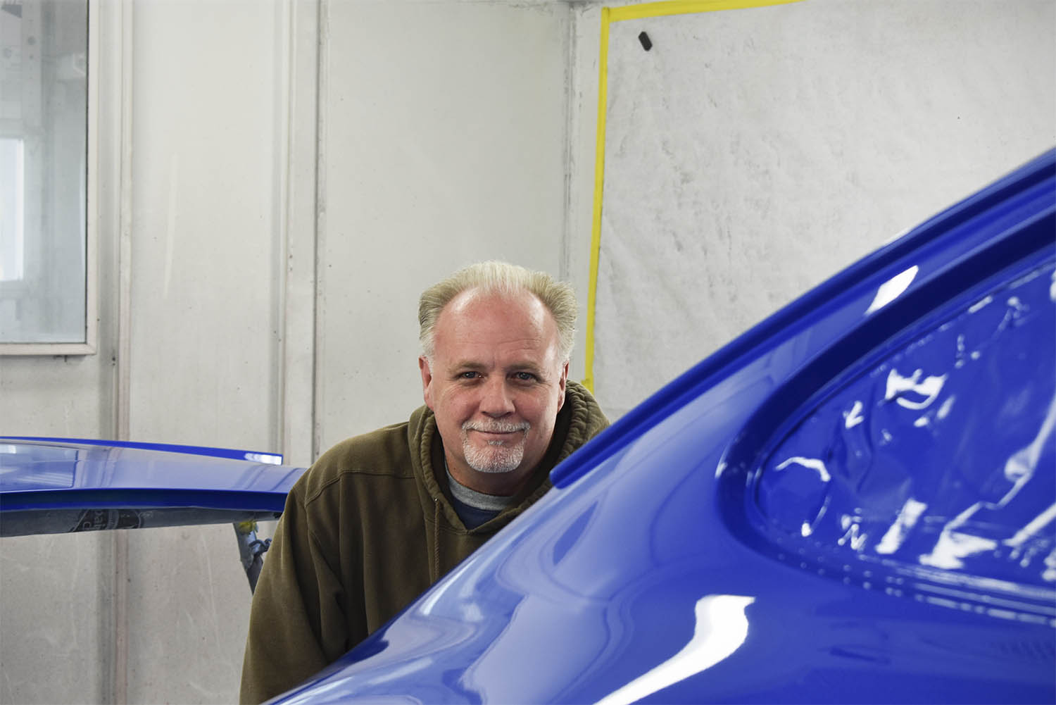 George, Porsche painter and body man at Vintage Sportscar Restorations.