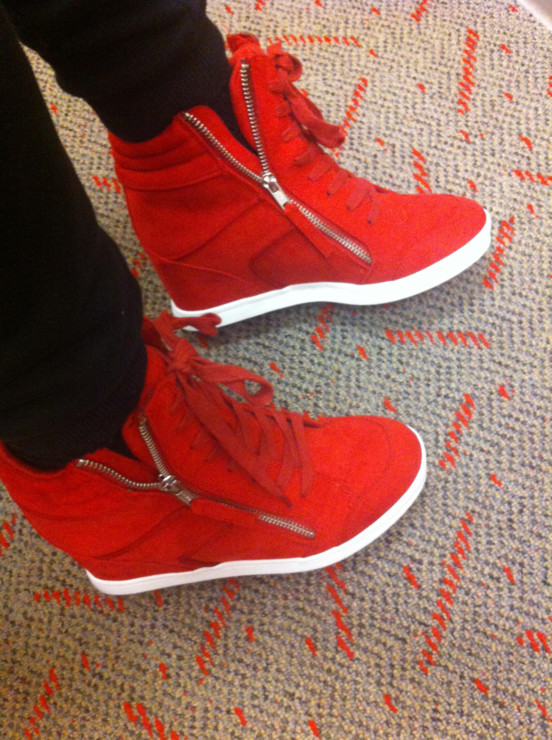 Rock & Republic Red Sneaker Wedges