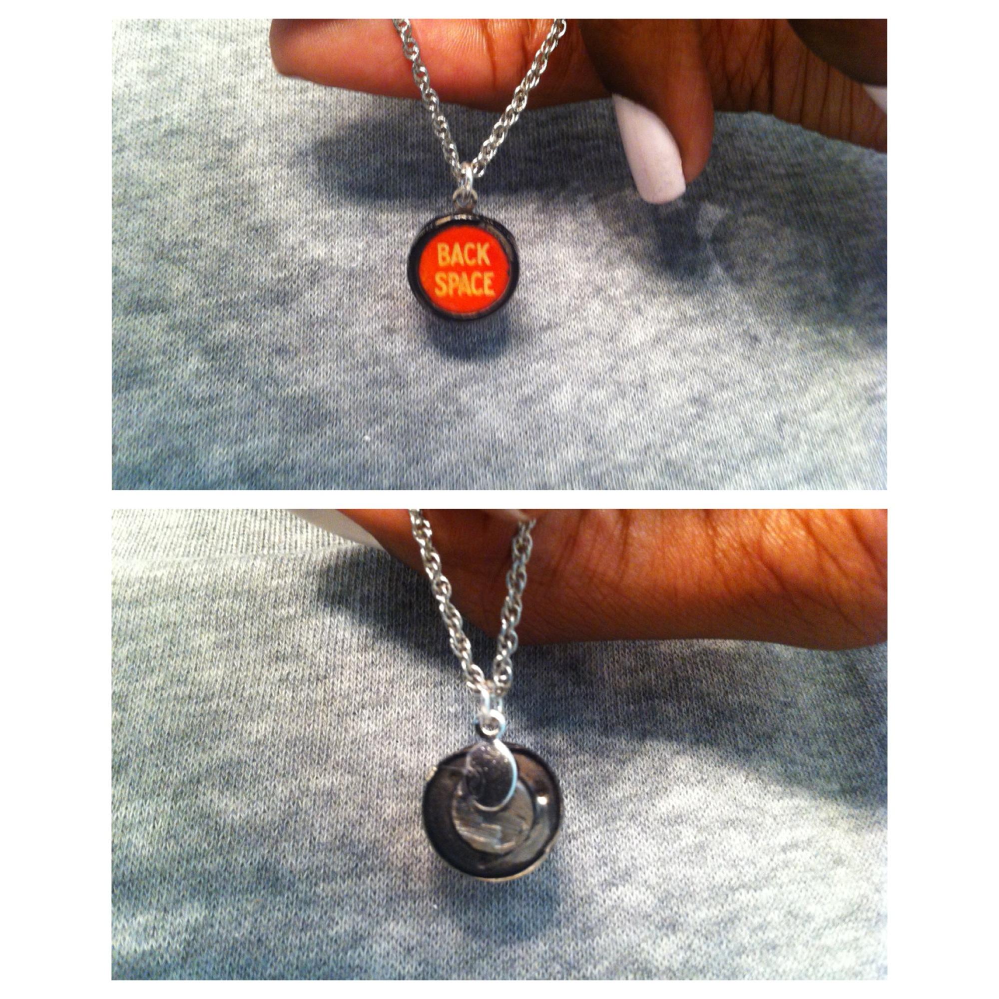 Type Writer Pendant Necklace