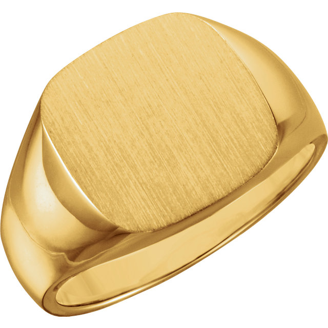 Cushion-shape Signet Ring