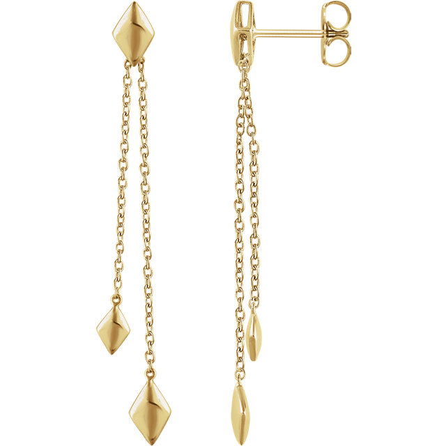 Geometric Chain Earrings