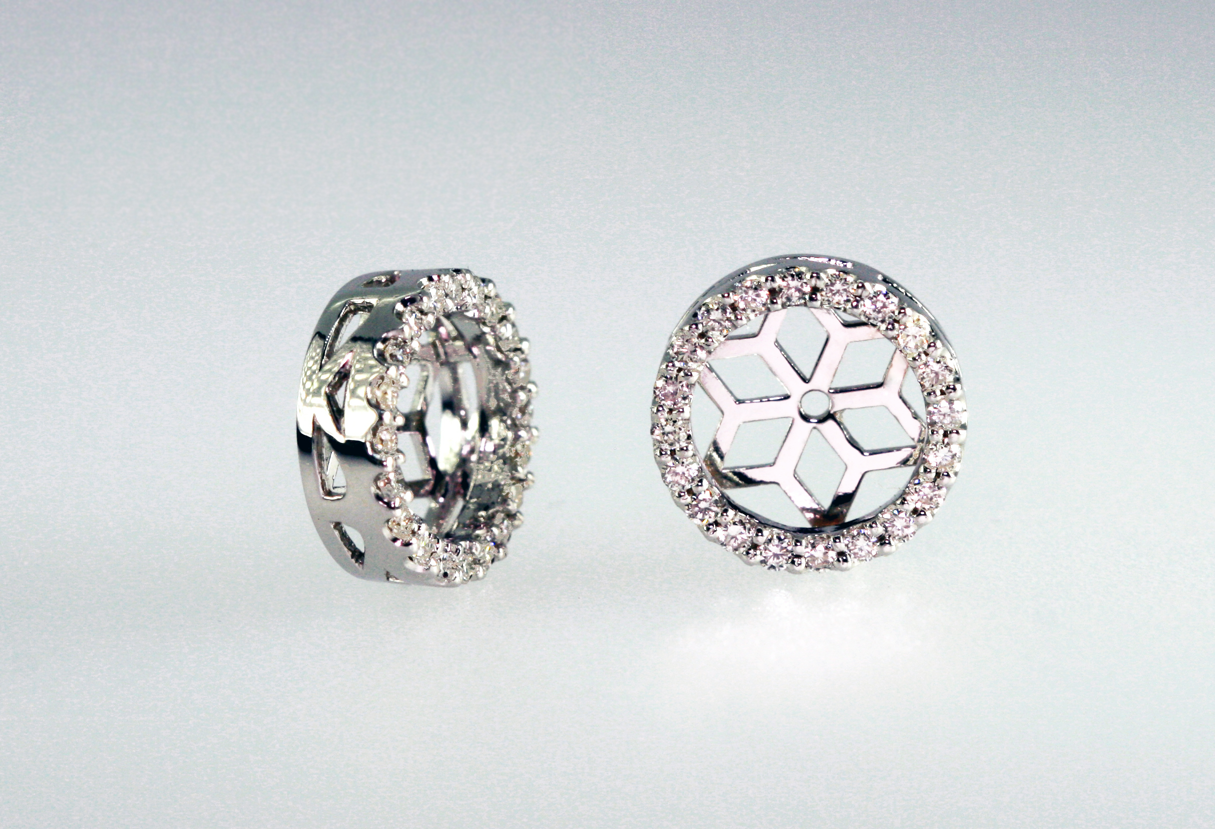 Diamond Halo Studs and Jackets
