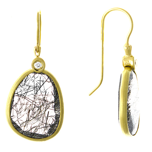 Rutilated Quartz Drop Earrings