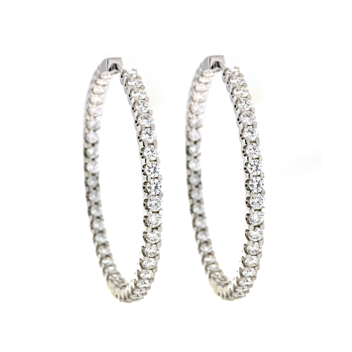 Diamond Inside-Out Hoop Earrings
