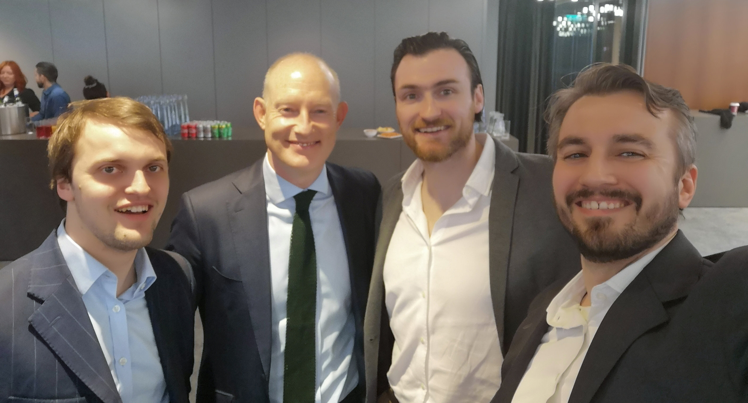 Limor CEO Shane Monahan with the lads from Thoburns