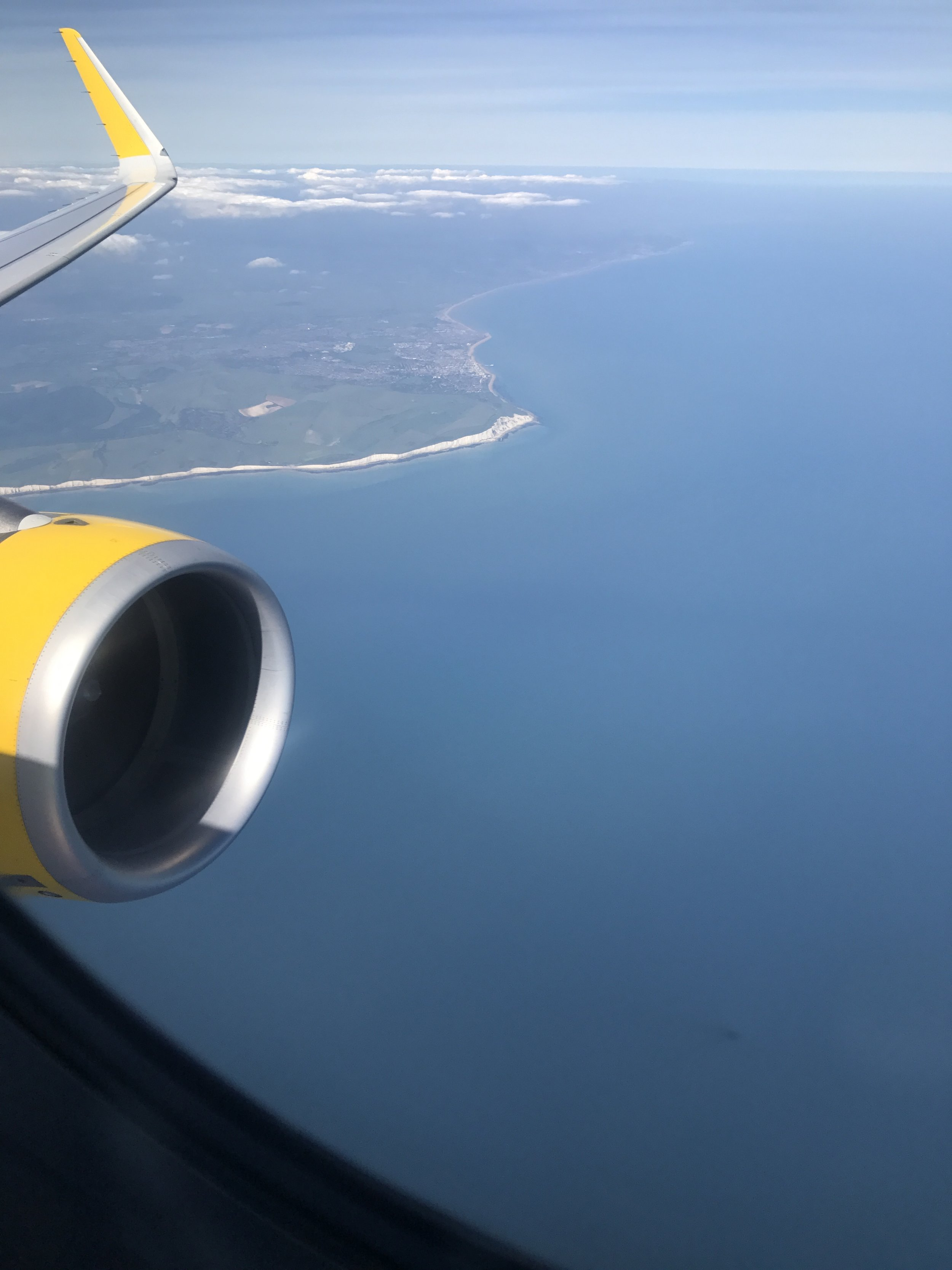 About to land in Rome