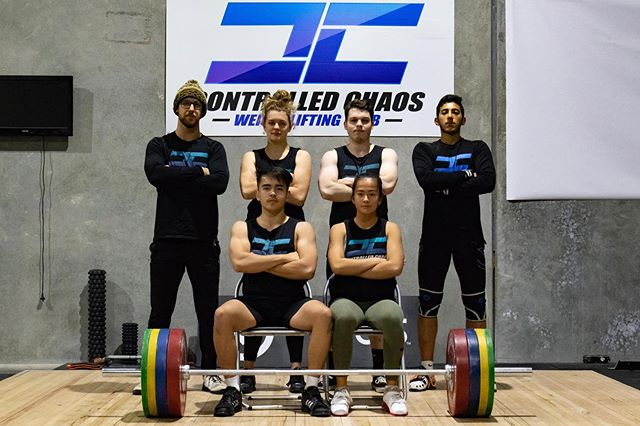 Our awesome team all ready for @victorian_weightlifting Age Group State Champs coming up on the 25th. . If you're around head down to Hawthorn and support all the lifters competing. . @joshua_ward77 @yind.eh @moolooney @omarrebaid @conormac.04 @mac.helena . #controlledchaos #chaosathlete #teamchaos #comp #olympicweightlifting #weightlifting #training #pr #pb #lifting #heavy #snatch #clean #jerk #squat #squats #strong #strength #fun #team #gym #coburg #melbourne #gym #train #power #competition