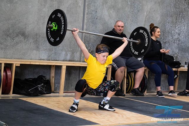 Our youngest lifter that turned up to the @victorian_weightlifting Age Group Training Day. Well done Brock and @pfccrossfit3076wolves for showing us all how it's done! . #controlledchaos #chaosathlete #teamchaos #comp #olympicweightlifting #weightlifting #training #pr #pb #lifting #heavy #snatch #clean #jerk #squat #squats #strong #strength #fun #team #gym #coburg #melbourne #gym #train #power #competition