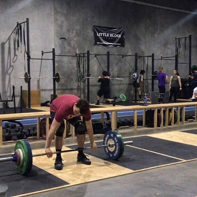 Big session this afternoon with @moolooney, @yind.eh, @omarrebaid all crushing some big PRs on one of there last heavy days. . 2 weeks to go! Can't wait! . #controlledchaos #chaosathlete #teamchaos #comp #olympicweightlifting #weightlifting #training #pr #pb #lifting #heavy #snatch #clean #jerk #squat #squats #strong #strength #fun #team #gym #coburg #melbourne #gym #train #power #competition
