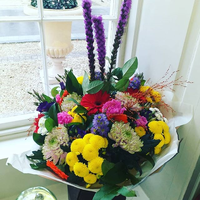 A burst of colour for a lovely customer today!